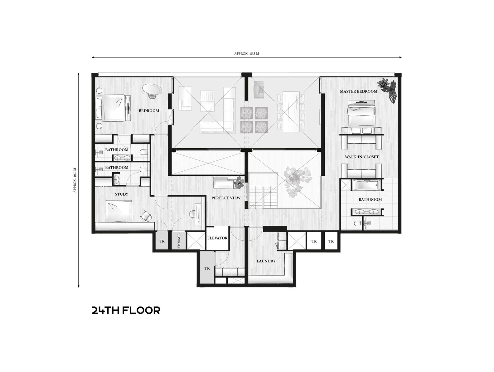 24ste verdieping