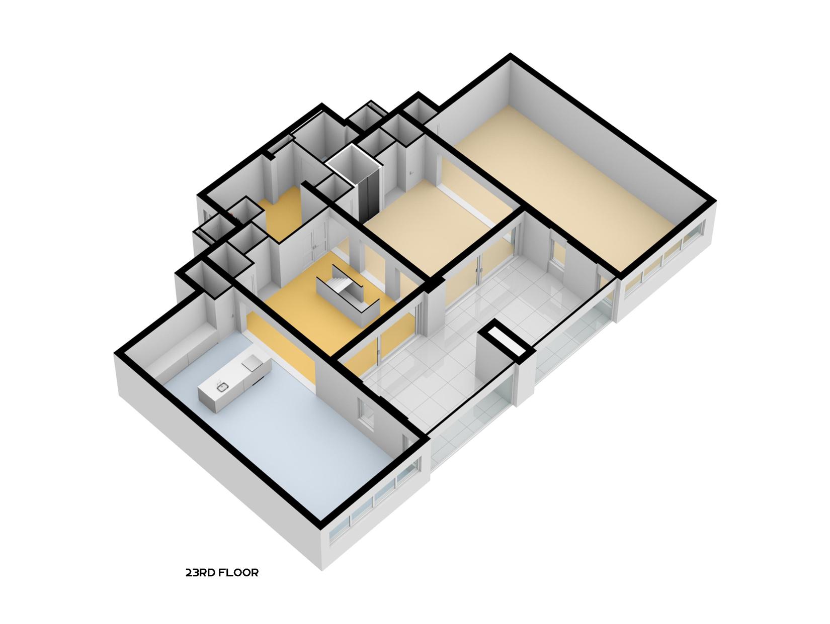 3d 23ste verdieping