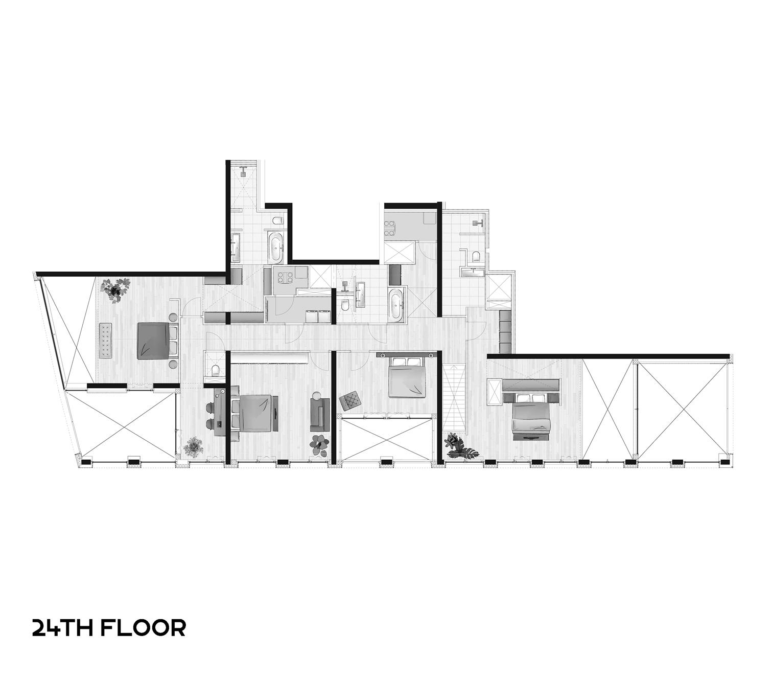 3d 24ste verdieping